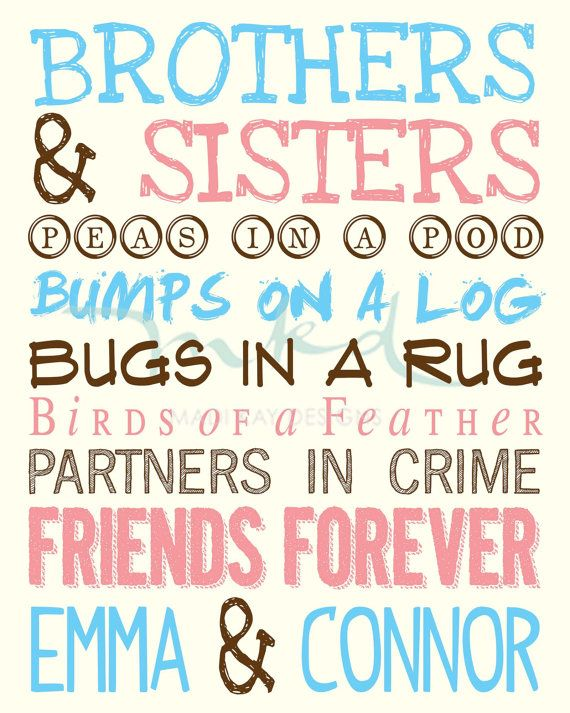 Brother sister sign-8709