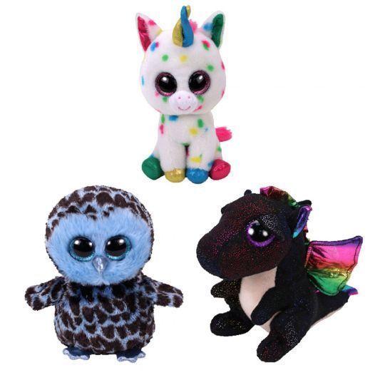 f2a640e1ee2 Beanie Babies 2 0 165958  Set Of 3 Ty 6 Yago Owl Harmonie Unicorn Anora  Dragon Beanie Boos Plush Mwmt S -  BUY IT NOW ONLY   22.95 on eBay!