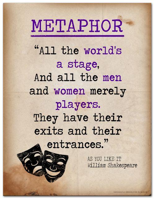 Metaphor Literary Terms Literary Quote Print Fine Art Paper