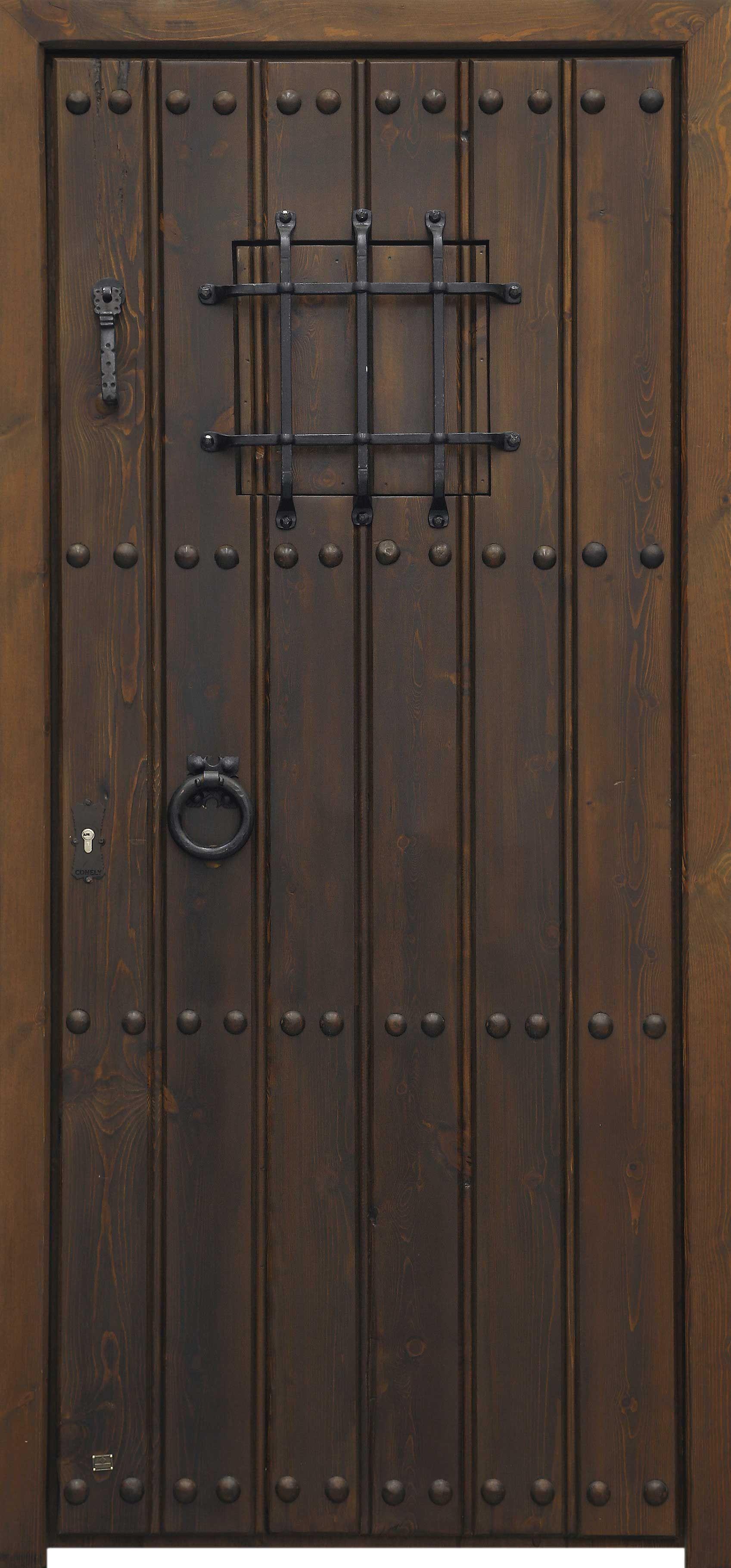 Conely puertas de madera metal y forja r sticas for Puertas de madera y hierro antiguas