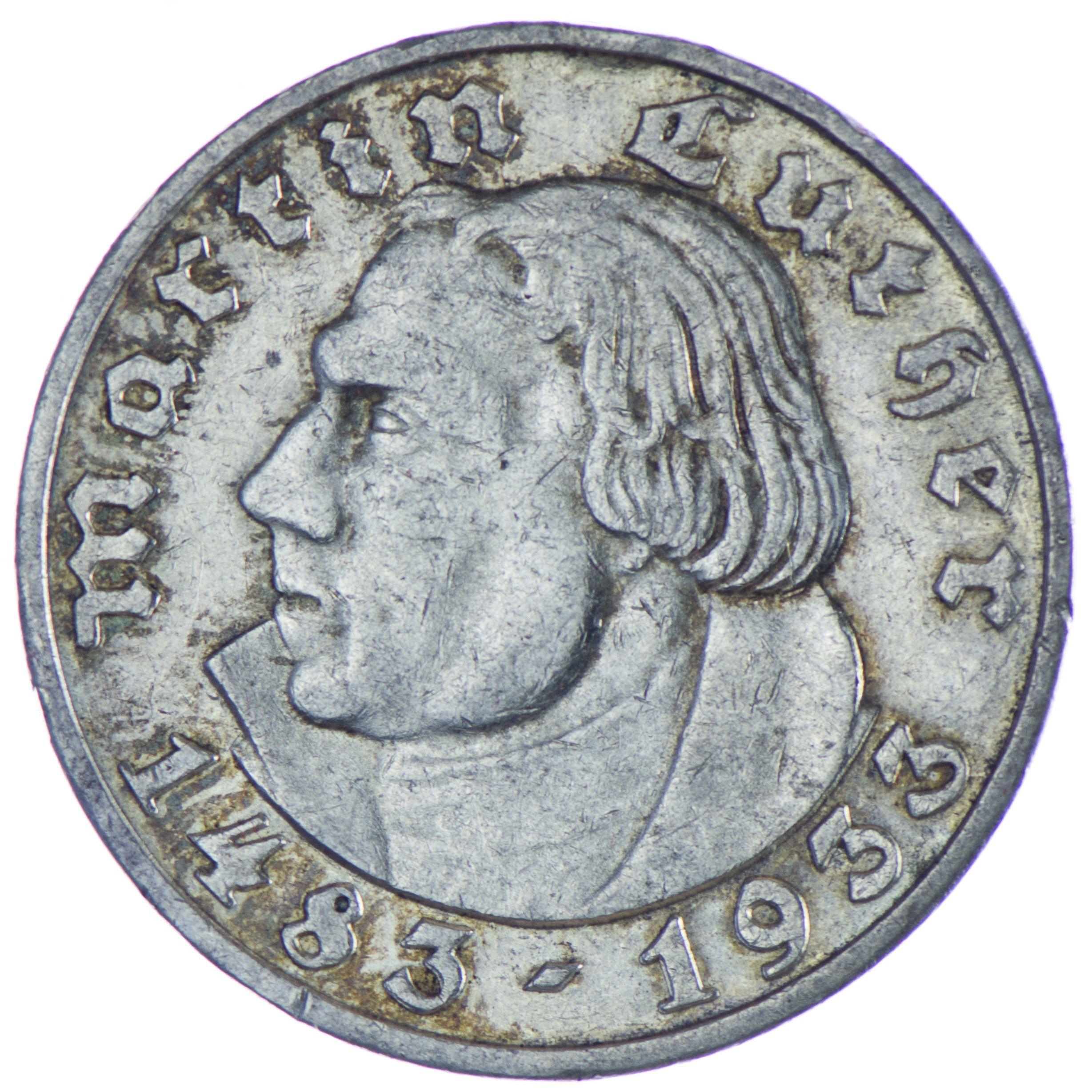 Drittes Reich 1933 1945 5 Reichsmark 1933 J Silber Zum 450