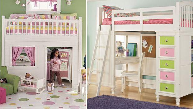 Camas altas para espacios peque os pinteres - Camas para ninos pequenos ...