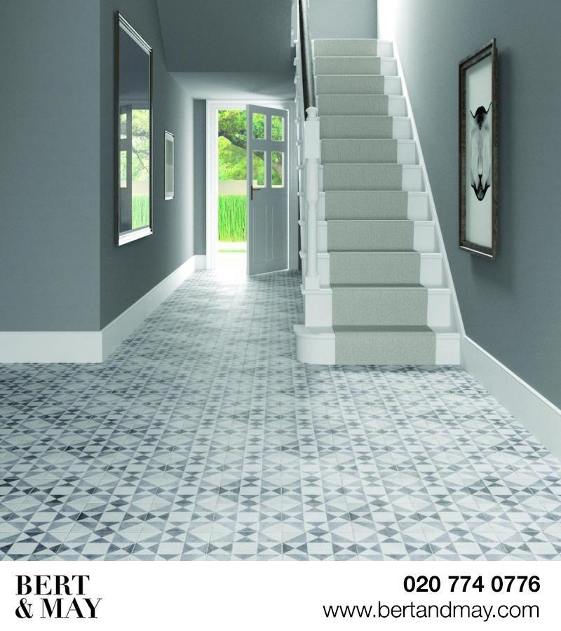 Hall Bathroom Tiles: Black Asquith Tile