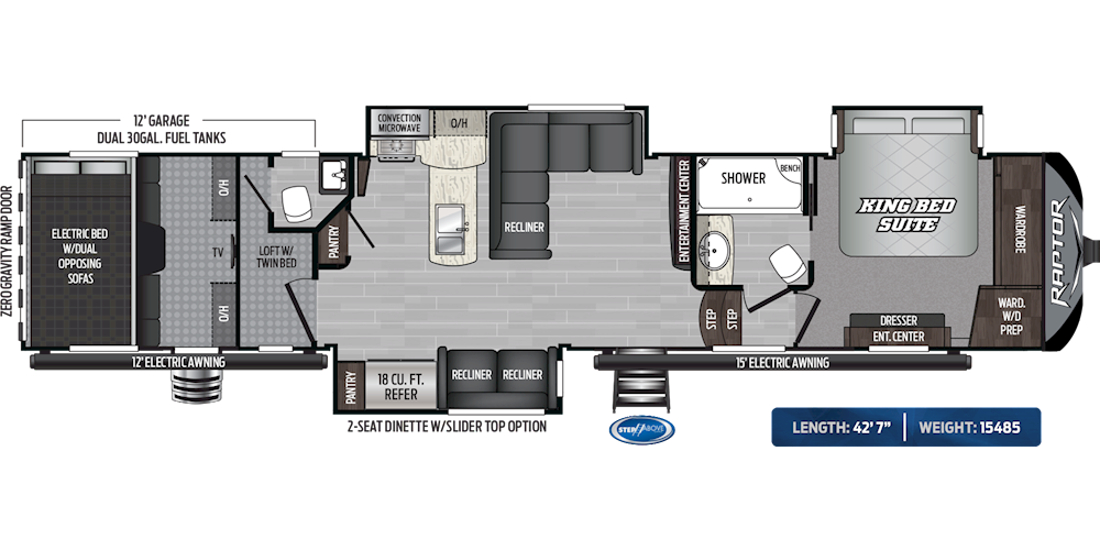 Raptor Toy Haulers Floorplans Keystone Rv Visit Our Website