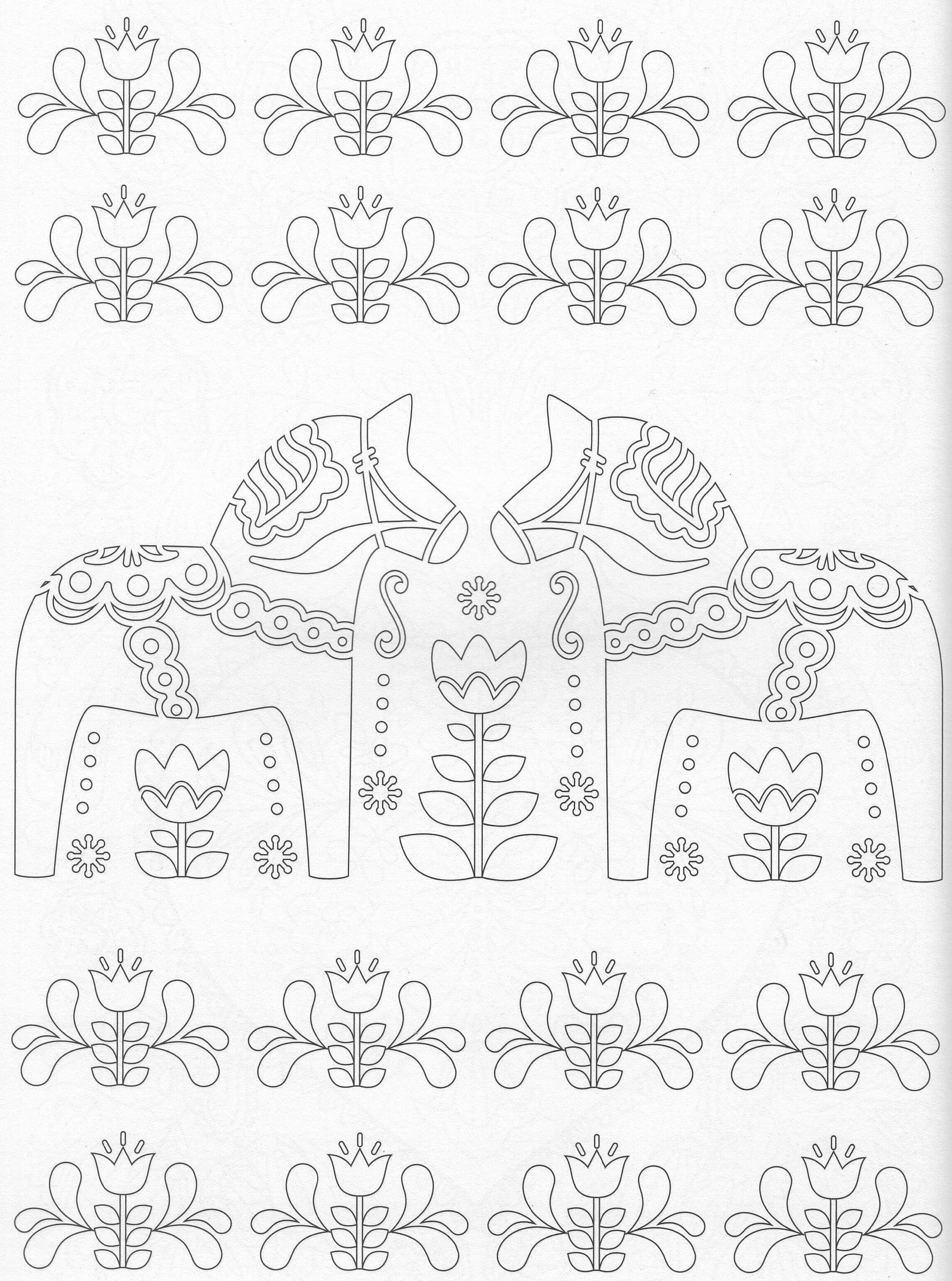 Scandinavian Coloring Book Pg 42 Color pages Stencils