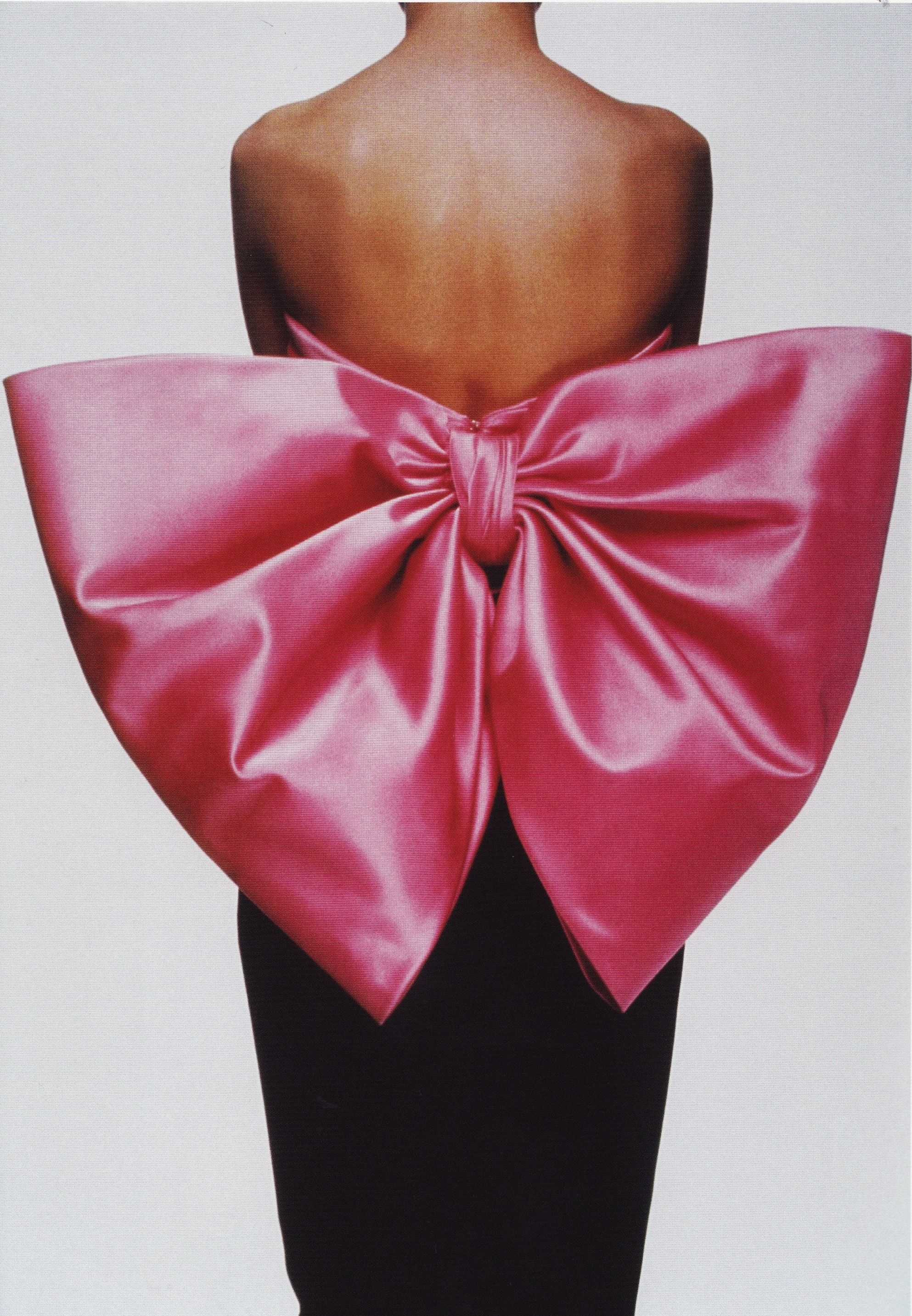 Pink Satin Bow Gown Yves Saint Laurent 1983 Photograph By