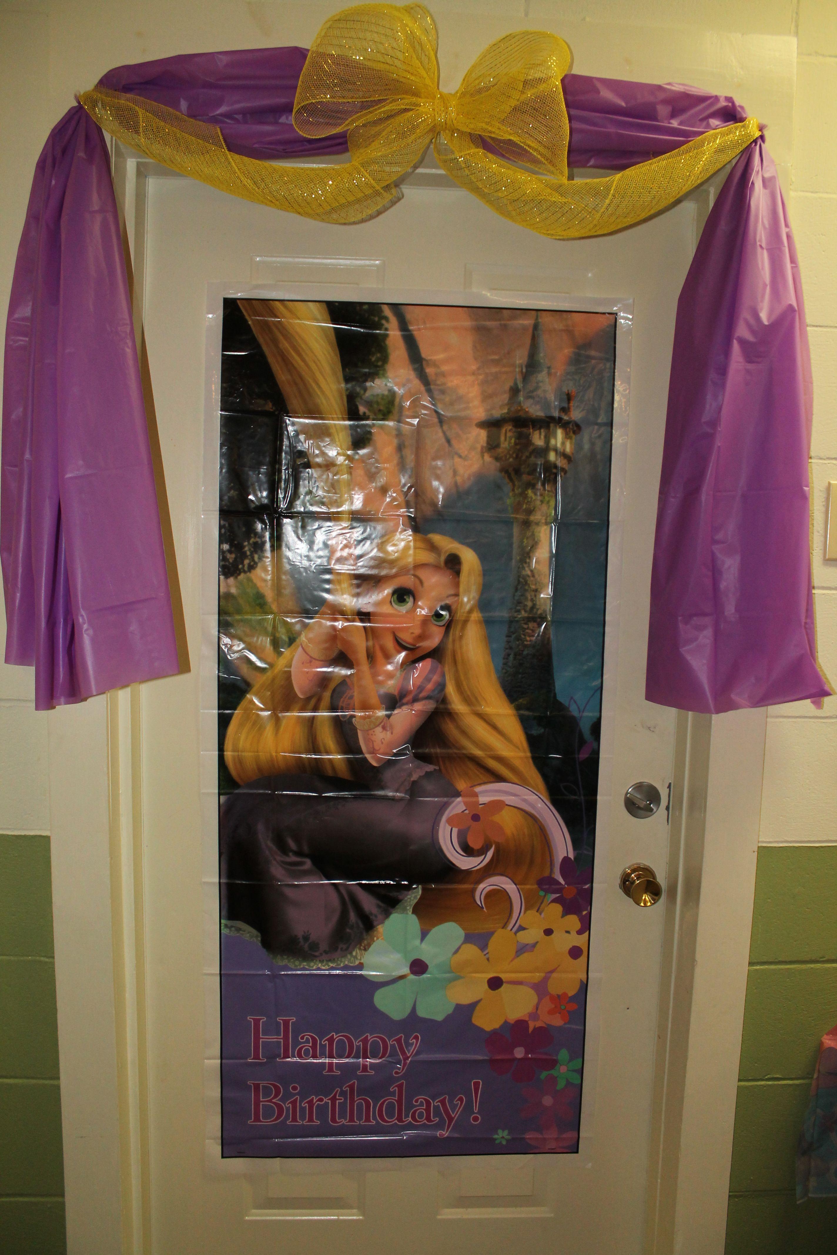 Tangled / Rapunzel Party Door Decorations wtih purple ...