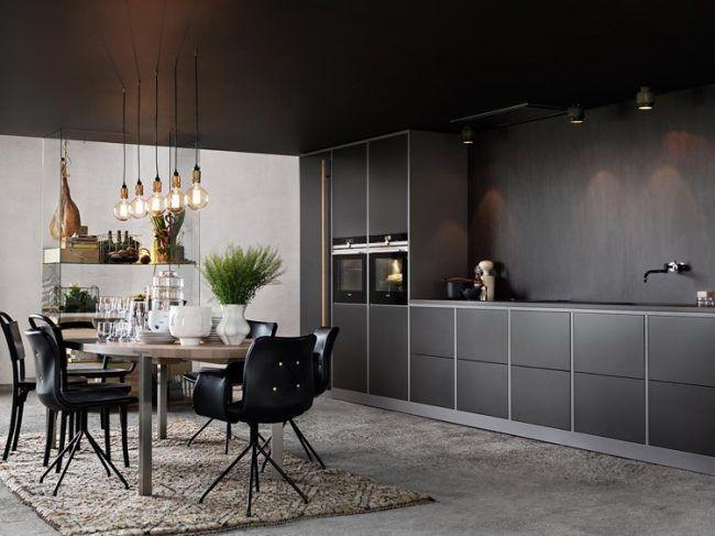 sockelblende-küche-grau-korpusfarbe-matt-schwarze-fronten home - matt schwarze kchen