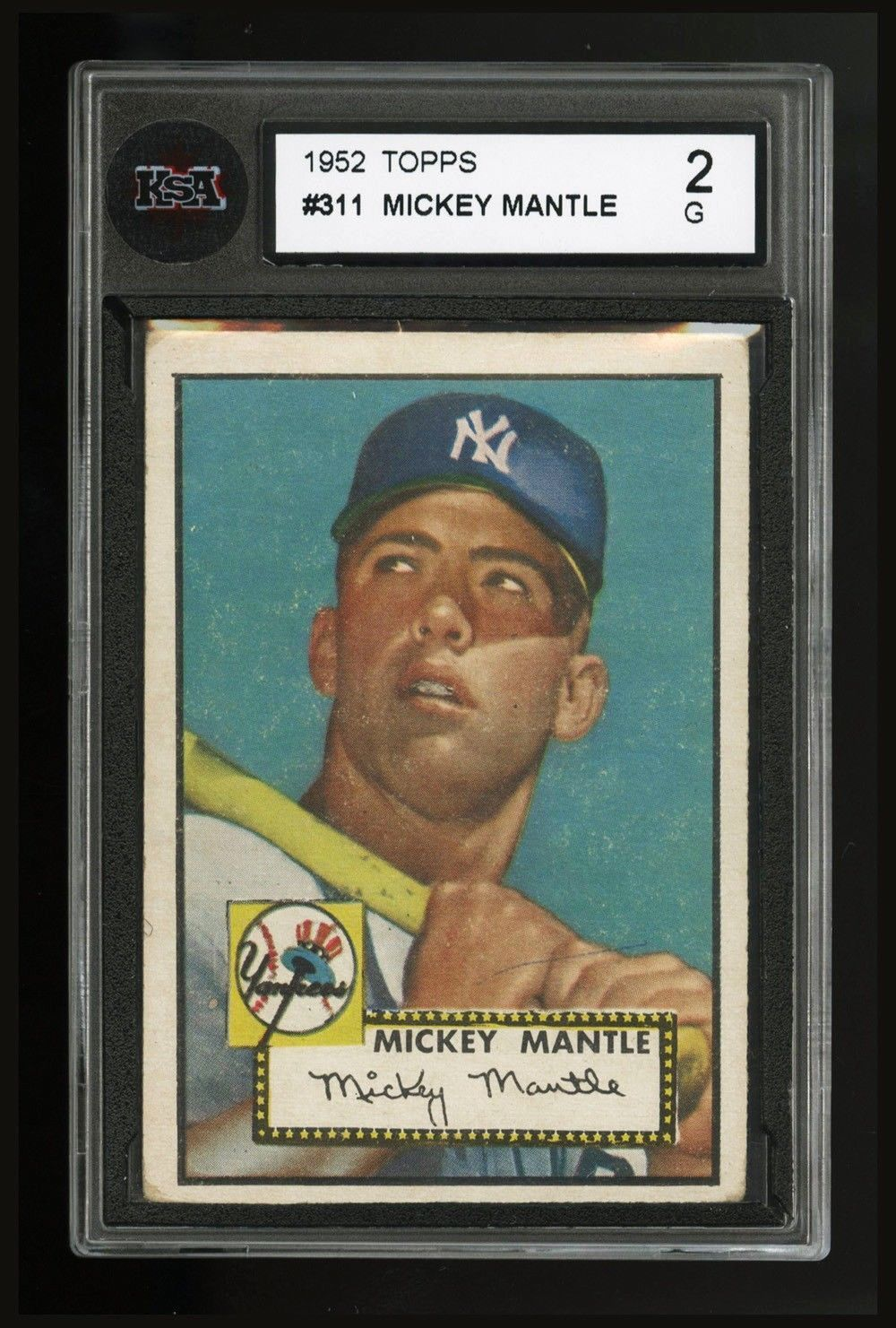 1952 topps 311 mickey mantle first topps card ny yankees