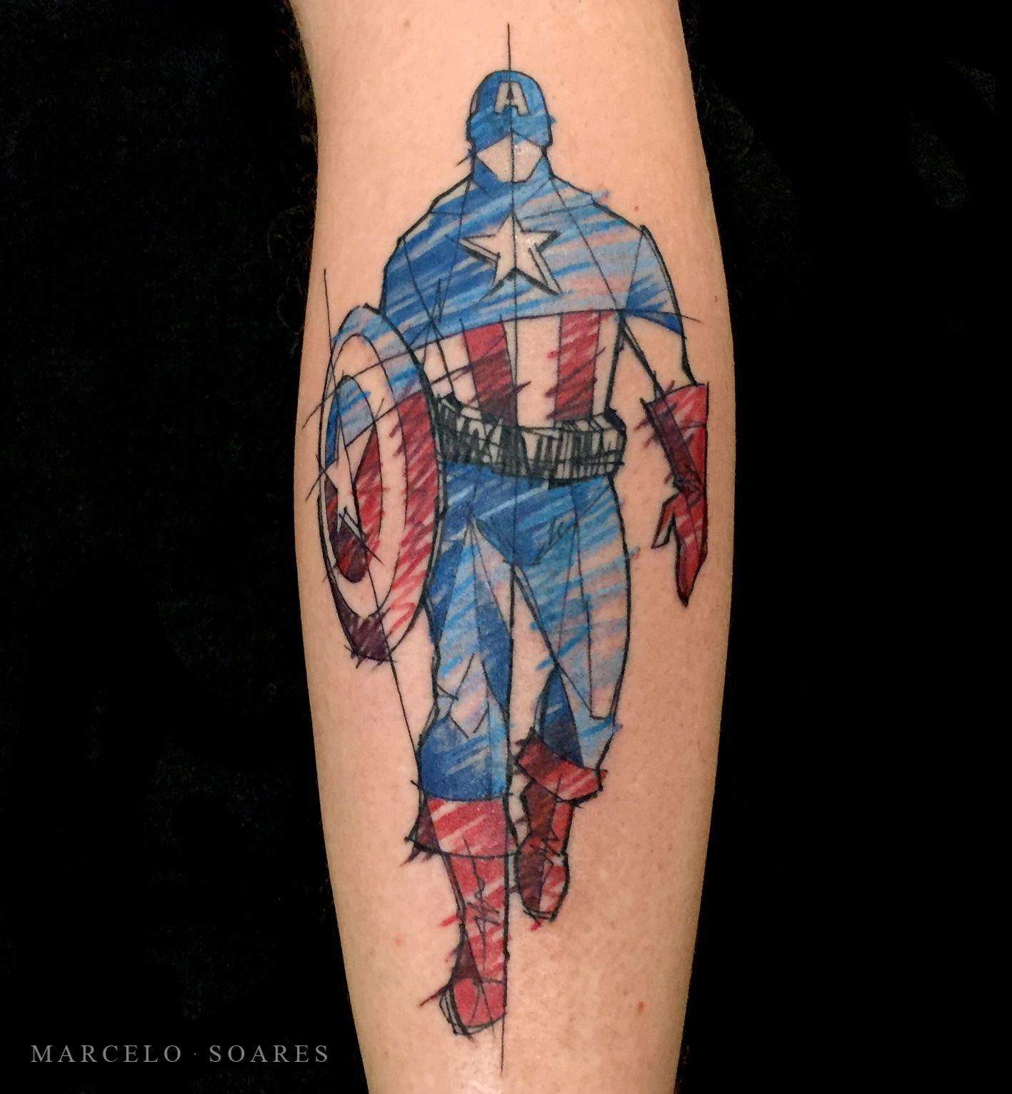 Tatuagem Capitao America Tatuagem Capitao America Ideias De