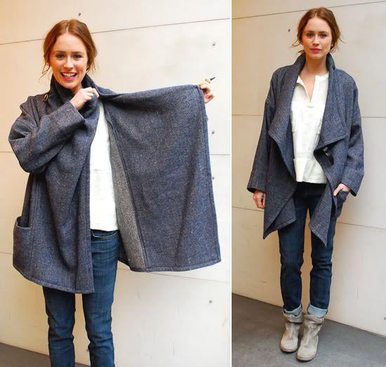 Isabel Marant DIY Sewing Jacket | DIY | Pinterest | Wolle, Nähen und ...