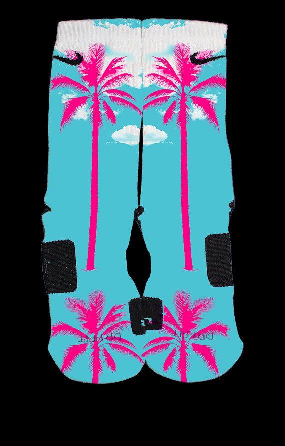 new product 0f317 cf261 Lebron 11 South Beach Custom Nike Elites by TheSickestSocks,  35.99