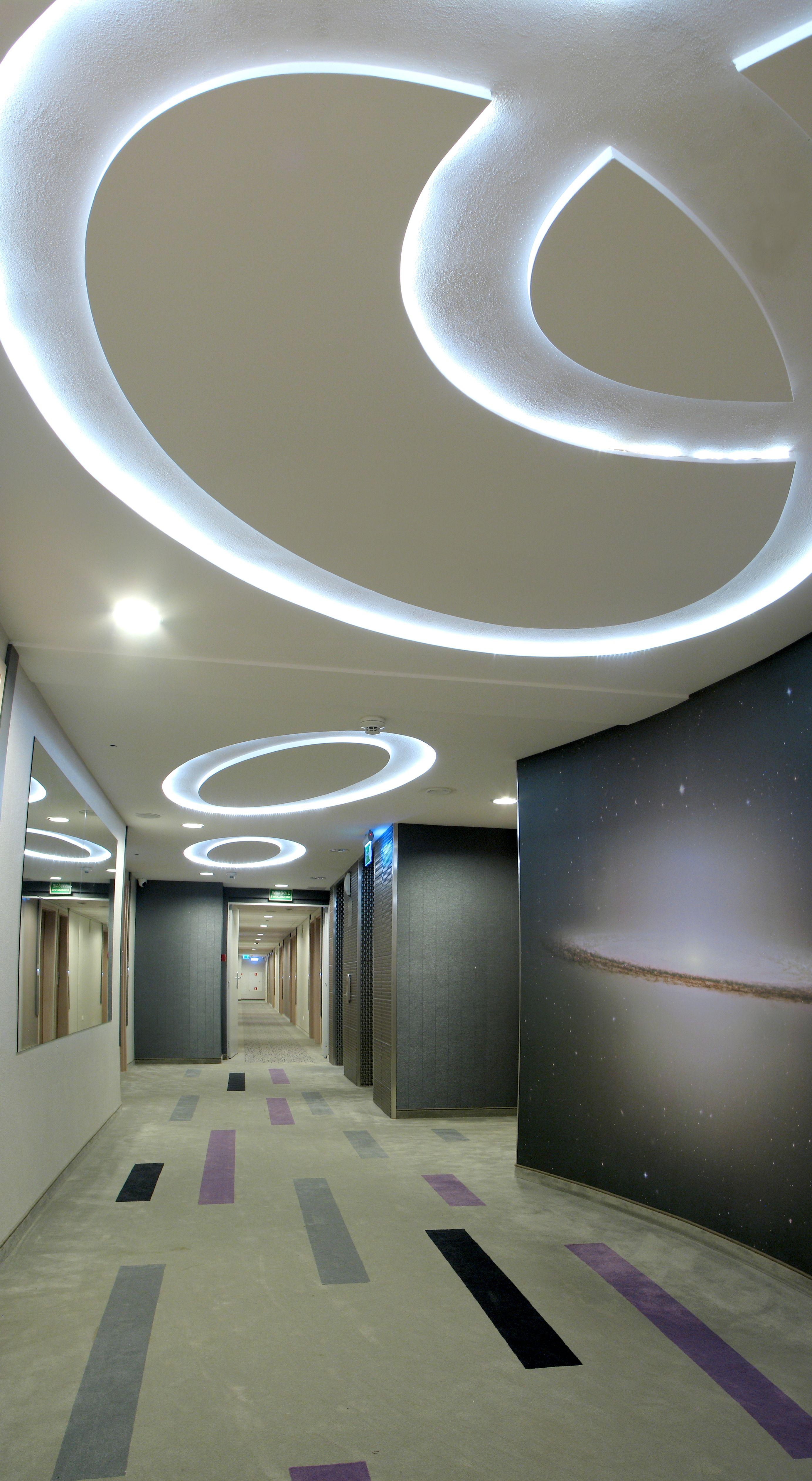 Corridor Design Ceiling: Hotel ****Galaxy, Kraków, Poland