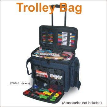 Scrapbooking Paper Craft Storage Tote Trolley Bag Navy RRP$125.00 http://www.ashop.net.au/p/356443/Scrapbooking-Paper-Craft-Storage-Tote-Trolley-Bag-Navy-RRP.html