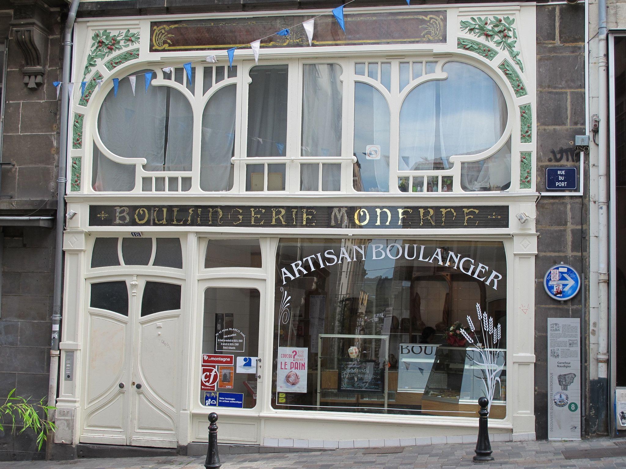 Boulangerie moderne vers 1905 rue du port clermont ferrand 63 travel art nouveau - Rue du port clermont ferrand ...