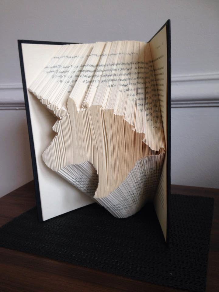 Book folding pattern for a Unicorn name Rainbow Free tutorial