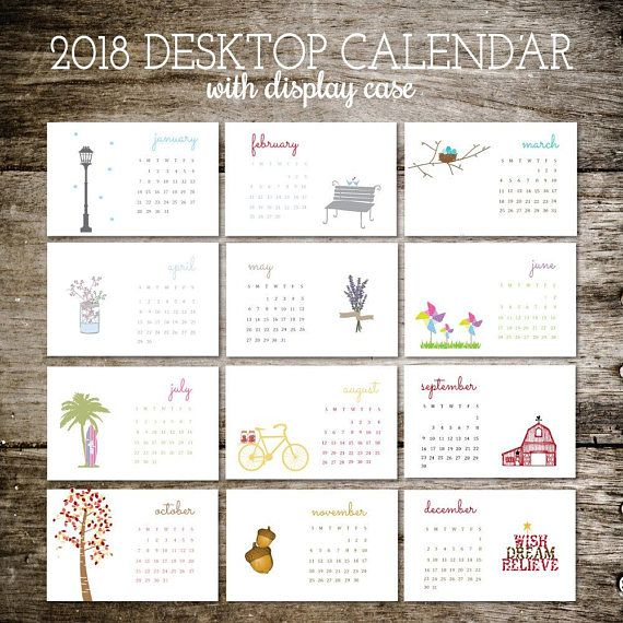 Desk Calendar 2018 Calendar Calendar 2018 Office Calendar Living - office calendar templates