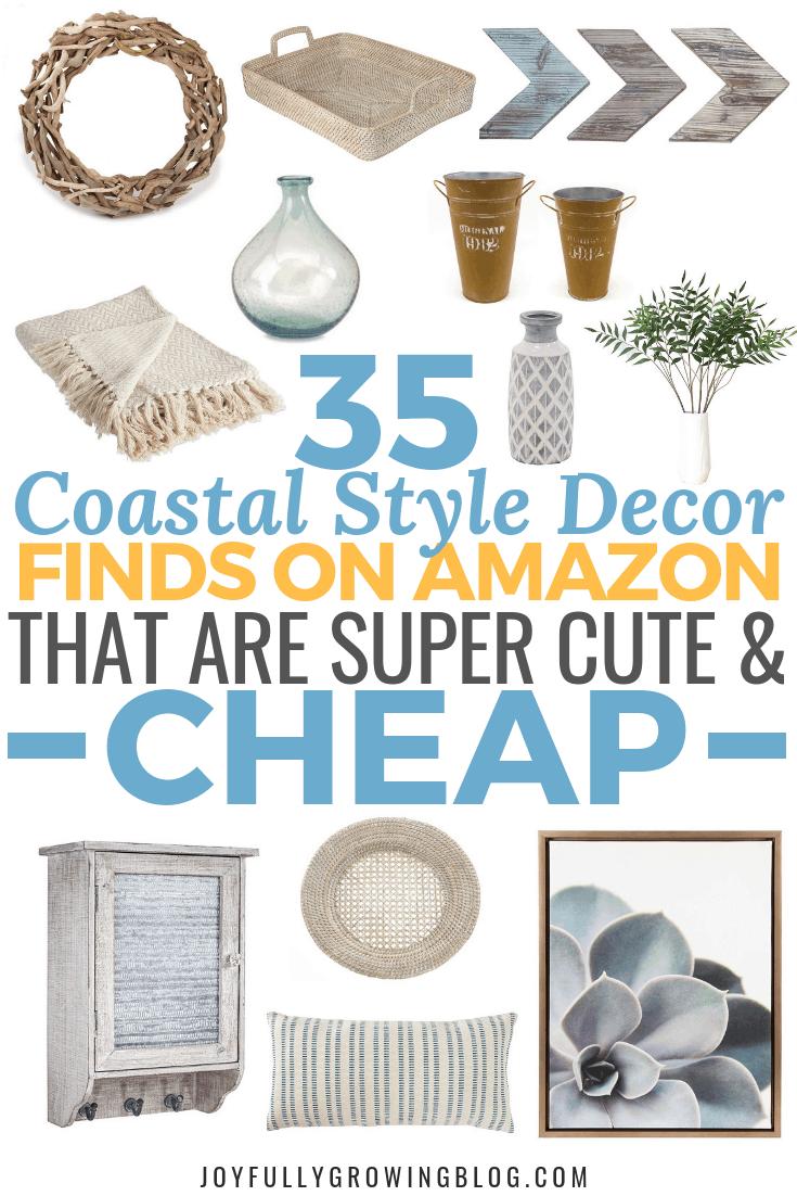 35 Coastal Style Decor Finds On Amazon for Under $50! | Joyfully Growing