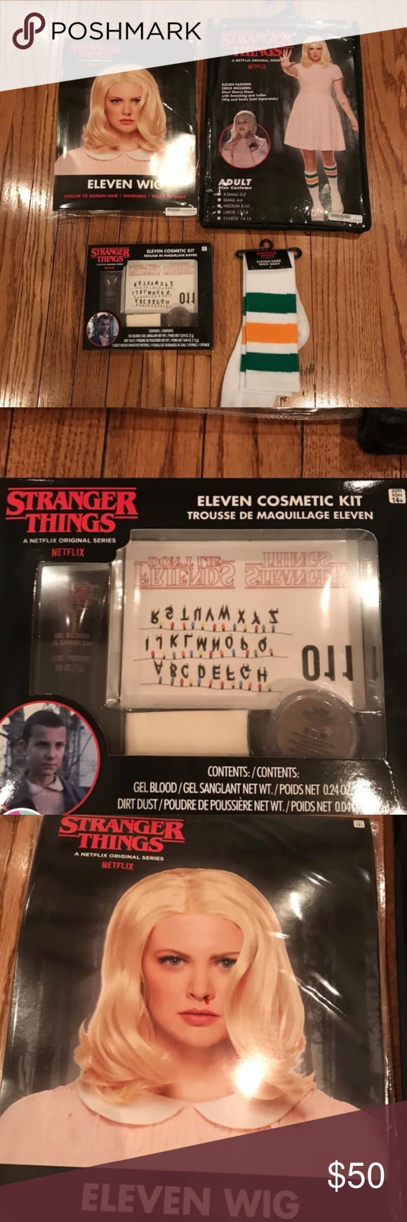 Pink dress from stranger things  NEW Stranger Things  Eleven halloween costume NWT  My Posh Closet