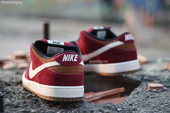Here is a potential release of the Nike SB Dunk Low, which dressed in a  blend of suede and corduroy. The color combination is composed with a gum  sole and