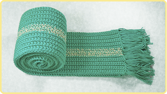 #Bufanda básica a #Crochet (idea 05)   #PatronesValhalla
