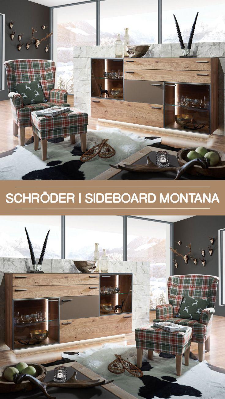 das moderne schroder sideboard montana aus naturlicher kernasteiche bringt nicht nur stauraum sondern ist auch ein echter hingucker