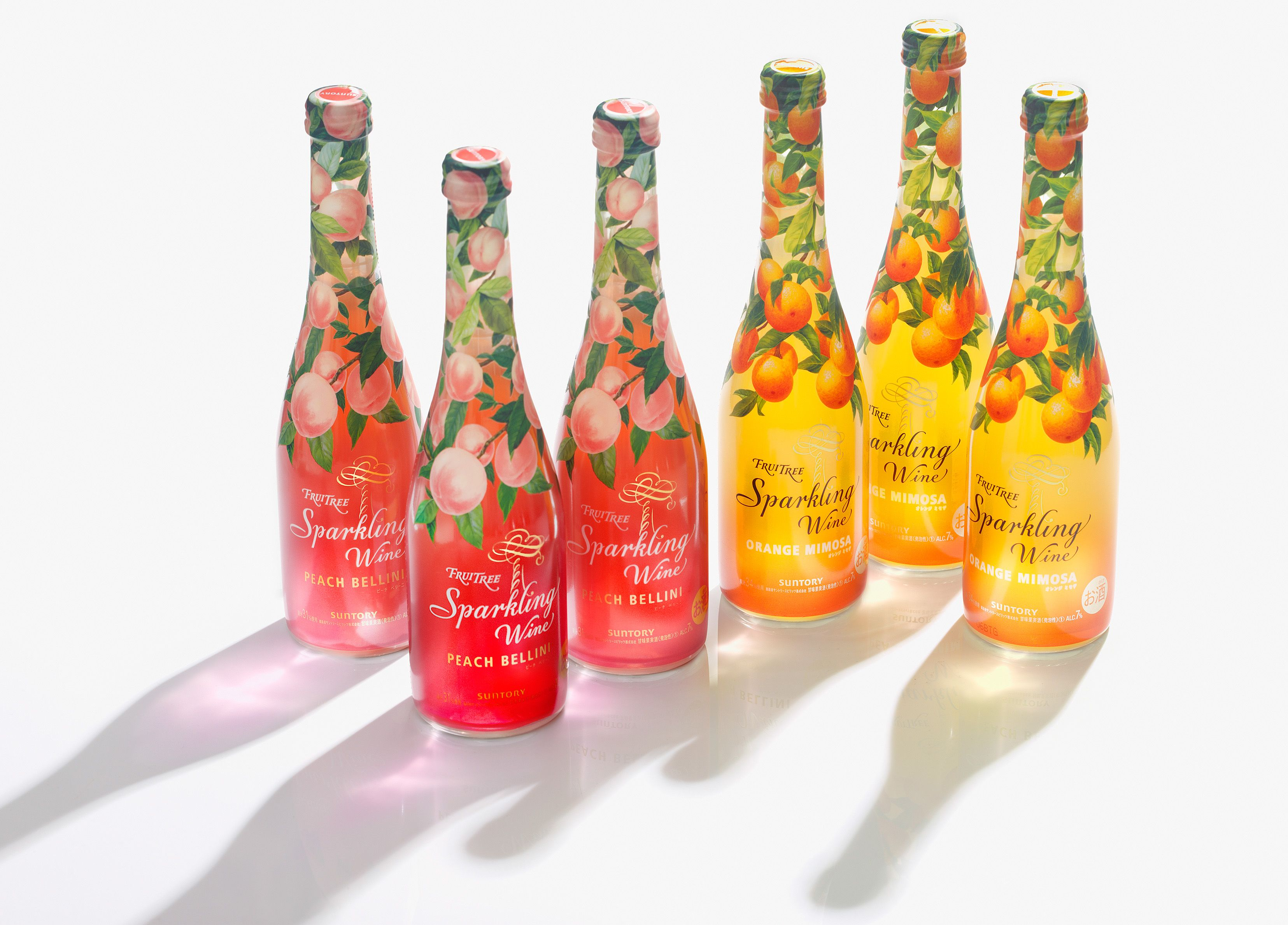 Fruitree Sparkling Wine On Behance Sparkling Wine Fruit Juice Packaging Watermelon Wine