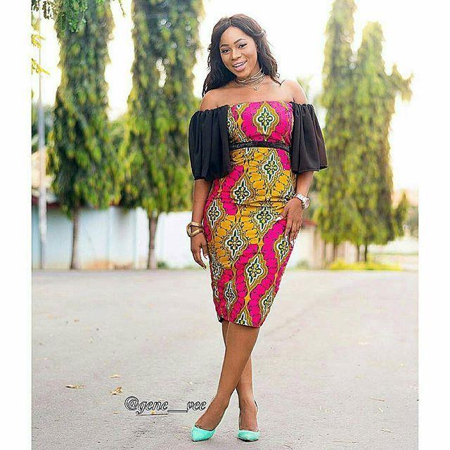 Off Shoulder Ankara Short Gown Styles Dezango Fashion Zone African Clothing African Fashion African Fashion Women,Simple Christian Dior Wedding Dress