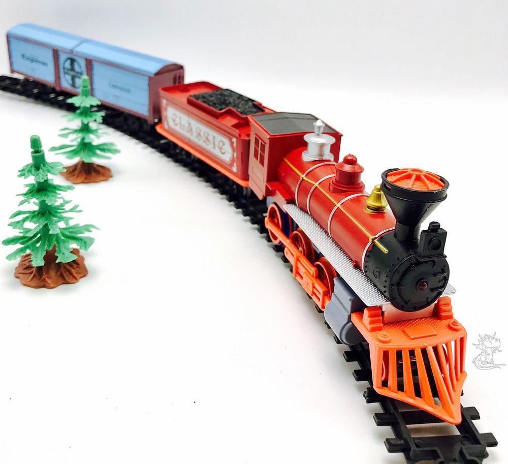 Train Set Western Railway 10ft Track Locomotive Rail Cars