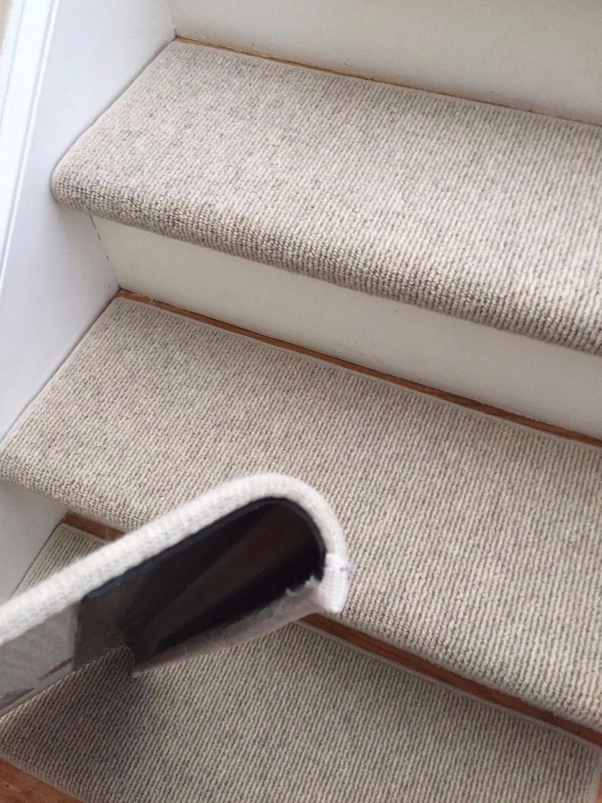 Best Morocco Wheat 100 Wool True Bullnose™ Padded Carpet Stair Tread Runner Replacement For Style 400 x 300