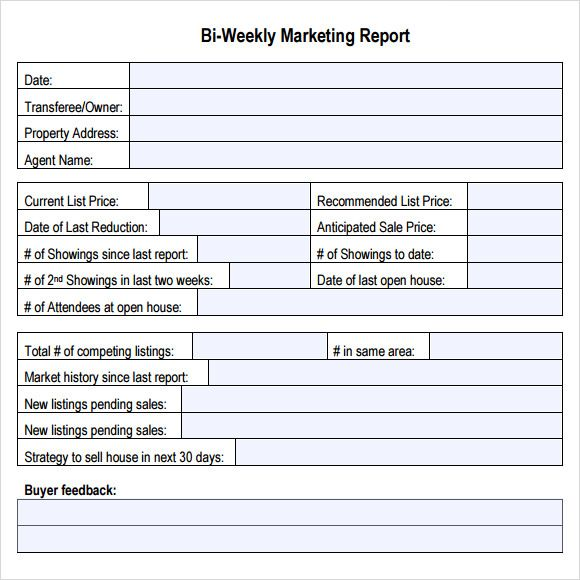 BiWeekly Marketing Report  Dashboards  Ppt