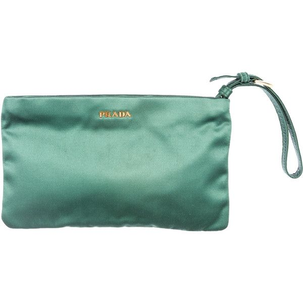 a33fdb7eec84 Prada Satin Clutch ( 125) ❤ liked on Polyvore featuring bags ...