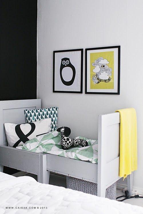chambre-enfant-noir-blanc-jaune | Chambre enfant ...