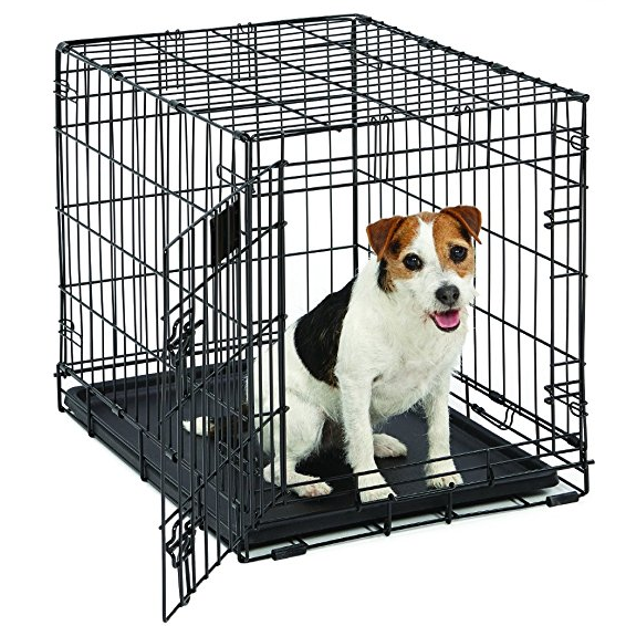 13 99 Folding Metal Dog Crate 24 Inch W Divider Perfect For