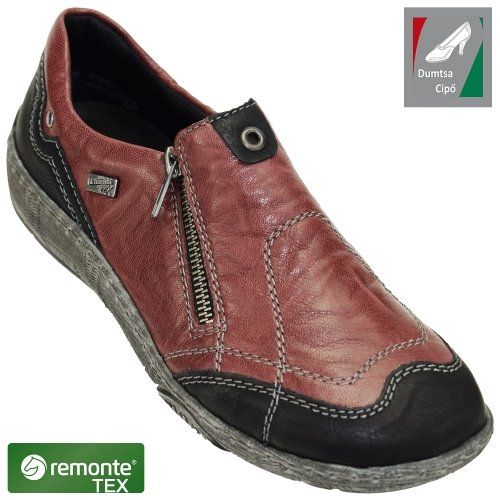 Remonte vízálló női bőr cipő D3816-35 bordó kombi  cd16ab8535