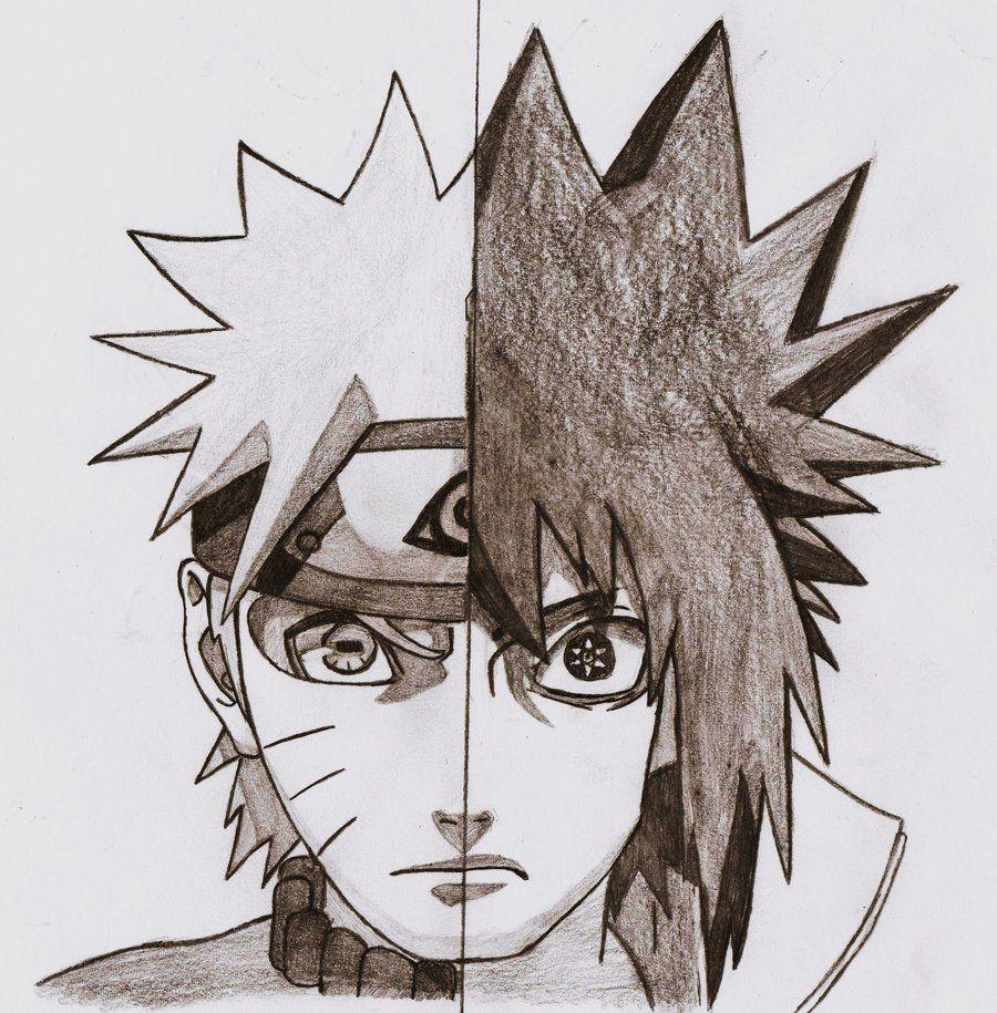 Naruto Drawings Naruto Vs Sasuke Shippuden By Apolonos Sasuke