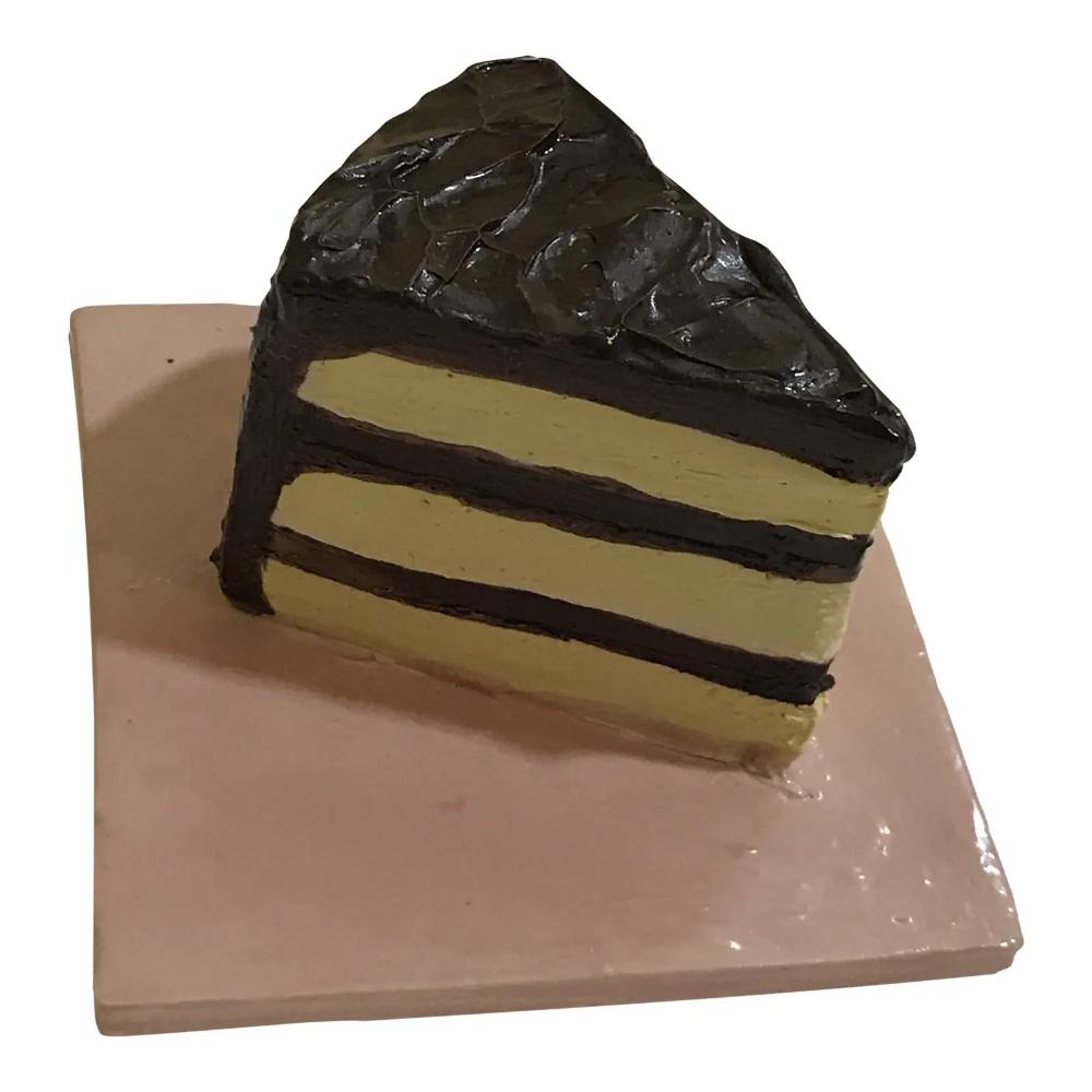 Ceramic Cake Slice Wall Tile Chairish Ceramics Stoneware Clay Wall Tiles