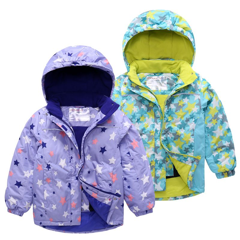 Infant Baby Girl Boy Winter Floral Thick Warm Jacket Hooded Windproof Coat 1-4Y