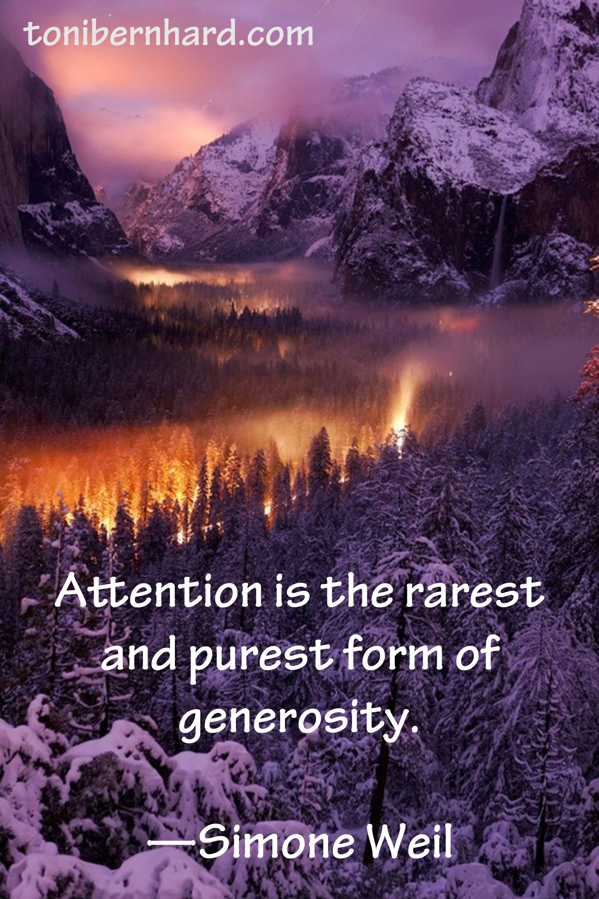 """Attention is the rarest and purest form of generosity."" French philosopher and Christian mystic Simone Weil"