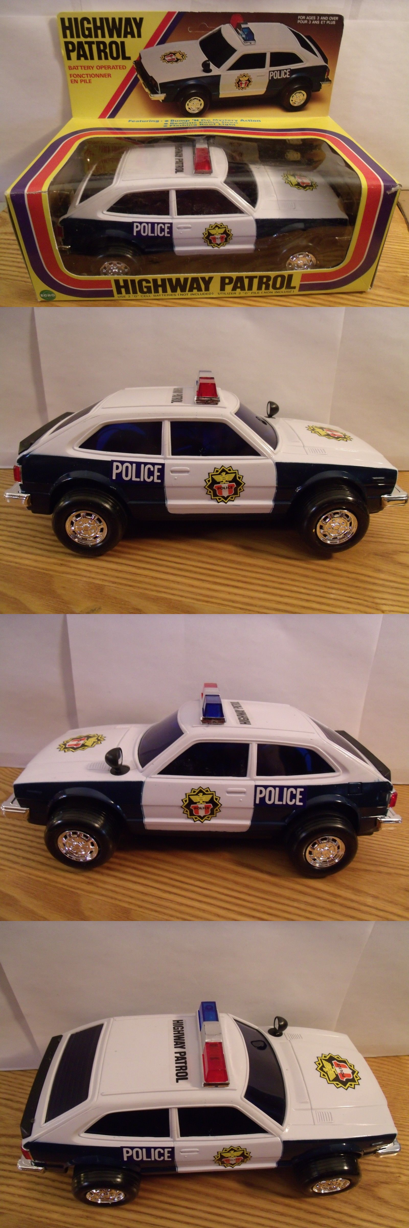 Battery Operated 19072 Vtg Highway Patrol Honda Police Car Mib Nos Echo Siren Lights It Now Only 49 95 On Ebay