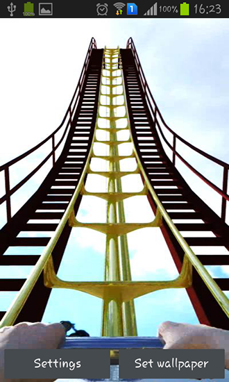 Roller coaster live wallpaper for Android. Roller coaster