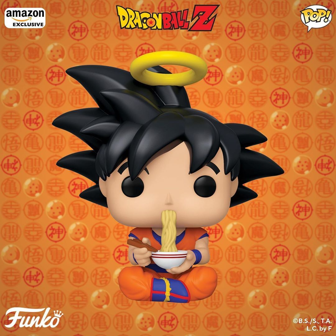 Goku Eating Noodles Exclusiva Amazon Com Dragon De Juguete Figuras Funko Figuras De Anime