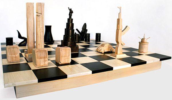Unique Chess Pieces   History Chess. Design: Boym