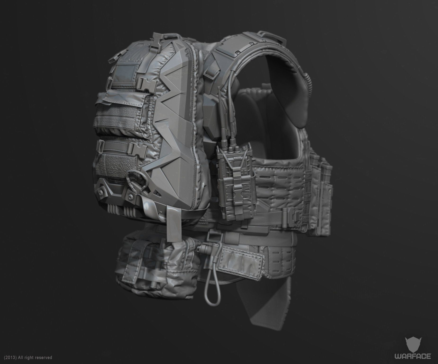 ArtStation new 3d model for crytek (soldier vest), Denis