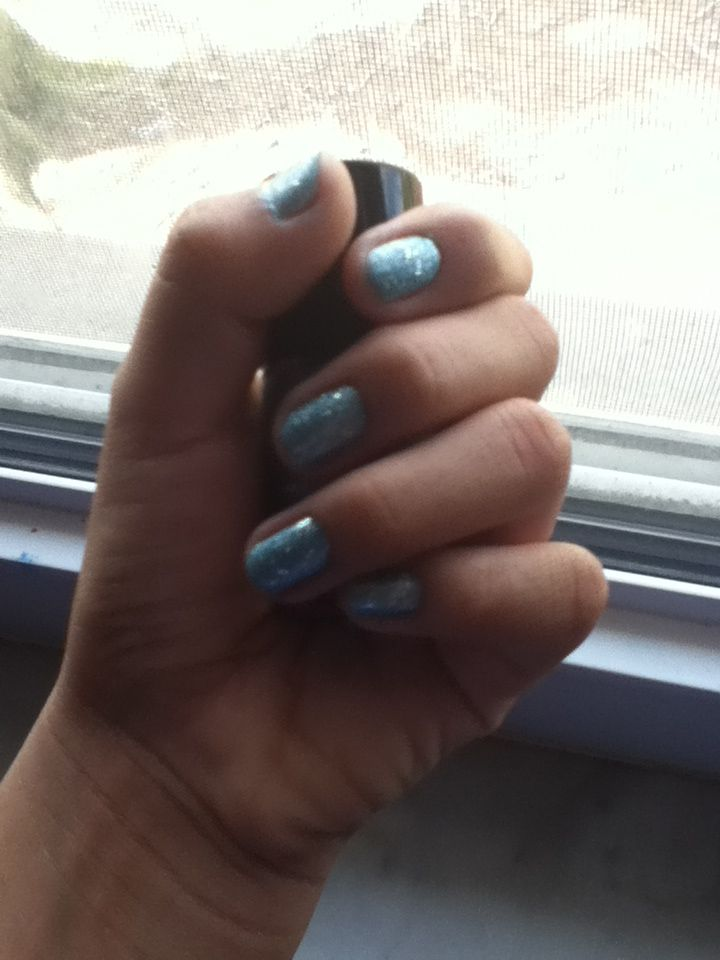 I just did my nails!