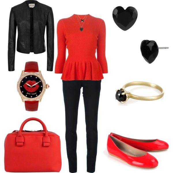 """Red & Black IV"" by jennifer-jordan-eastwood on Polyvore"