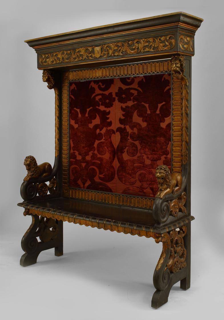 Italian Renaissance Seating Bench Stool Ebonized Avec Images Meuble Mobilier Italien Objet Decoration
