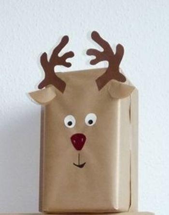 Regalos de navidad con cara de reno reno 1 regalos - Regalos envueltos originales ...