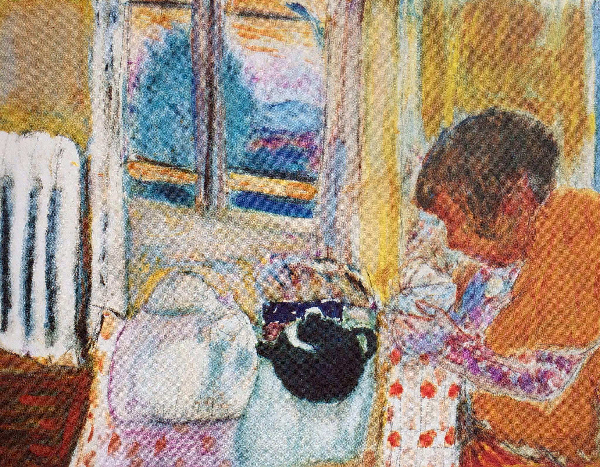 La Tasse De The Au Radiateur 1932 Aquarelle Gouache Et Crayon