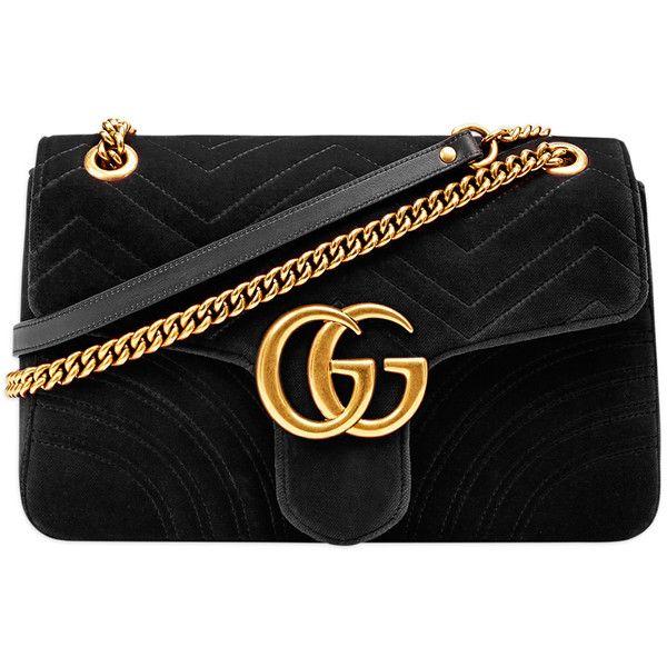 Gucci (4,880 MXN) ❤ liked on Polyvore featuring gucci, gucci handbags, velvet handbag, gucci bags and gucci purses